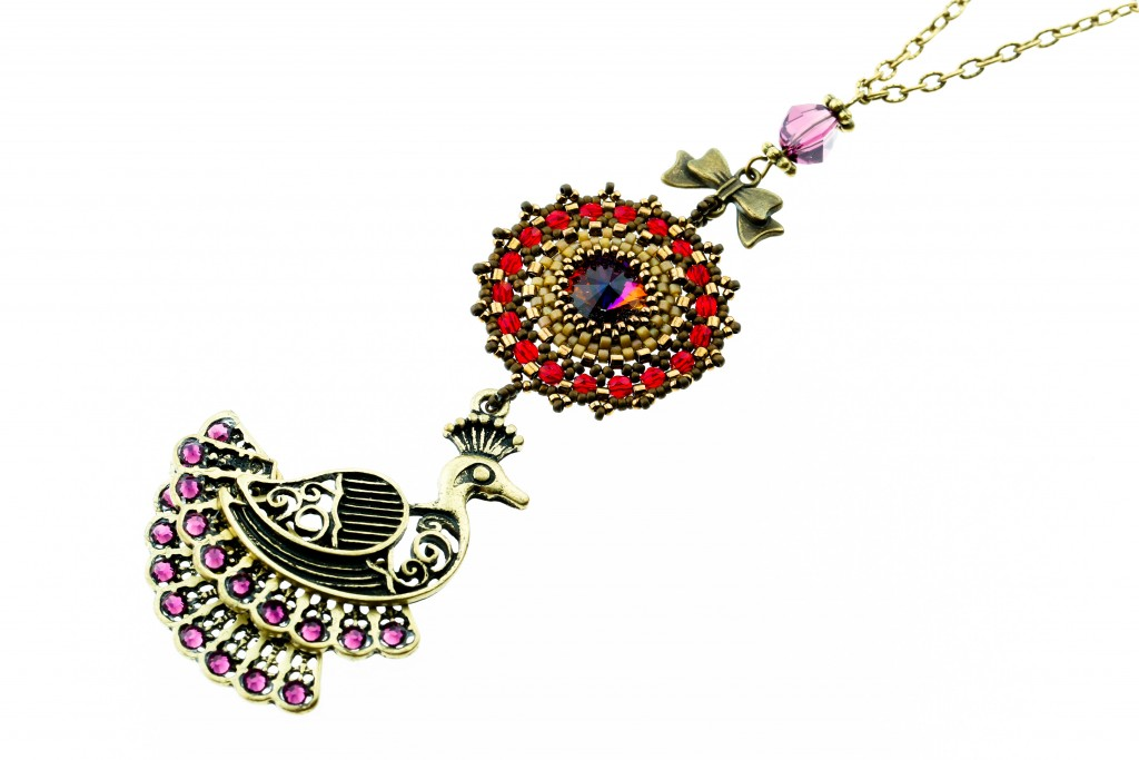 Dance of the Peacock necklace