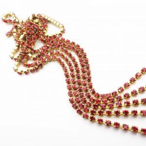 pink rhinestone chain