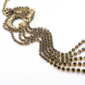 black rhinestone chain