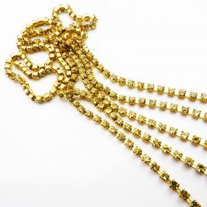 jonquil yellow rhinestone chain