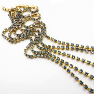 light saphire rhinestone chain