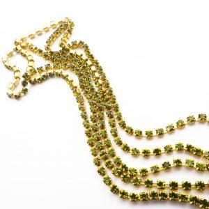olivine rhinestone chain