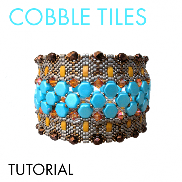 Cobble Tiles bracelet tutorial