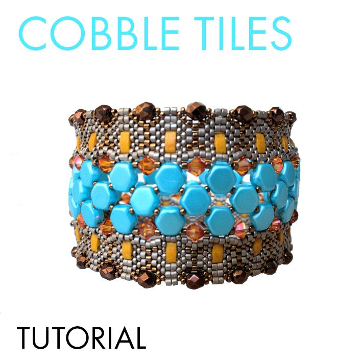 Cobble Tiles bracelet tutorial