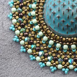 sashiko cabochon beadwork tutorial