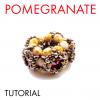 Pomegranate tutorial beaded bead
