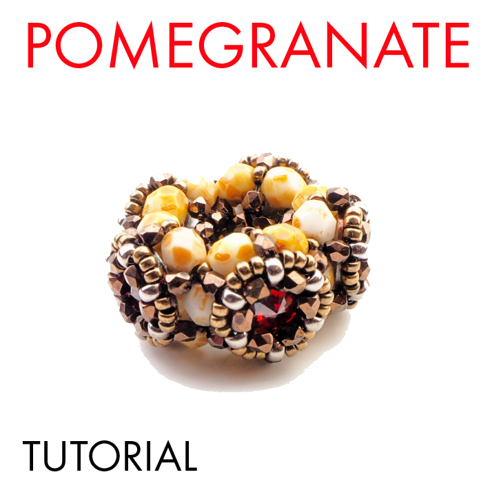 Pomegranate tutorial beaded bead