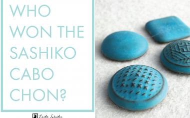 Who won the Sashiko cabochon from L2Studio?