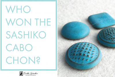 Who won the Sashiko cabochon from L2Studio?