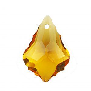 Baroque glass pendants