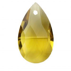 22 mm pear glass pendants