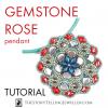 gemstone rose pendant beading tutorial with gemduo ginko true2 beads by erika sandor