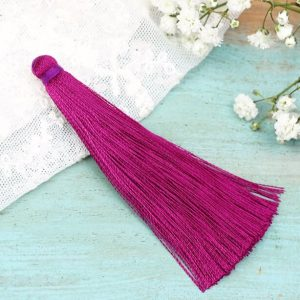 6.5 cm tassel imitiation silk Dark Fuchsia x 1 pc