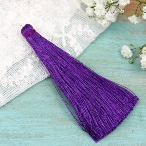 6.5 cm tassel imitiation silk Deep Purple x 1 pc