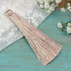 6.5 cm tassel imitiation silk Golden Grey x 1 pc