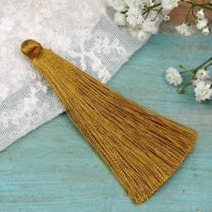 6.5 cm tassel imitiation silk Mustard Yellow x 1 pc