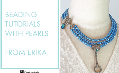 Beading tutorials with pearls from Erika