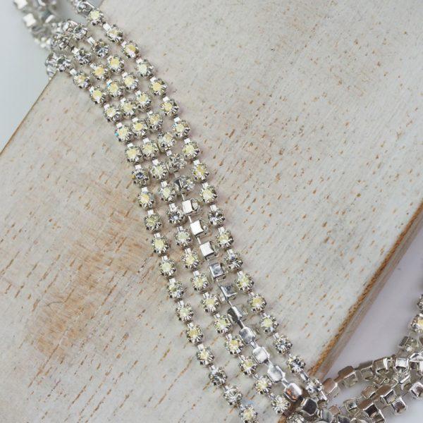 2.1 mm rhinestone chain with Crystal Argent Flare Preciosa crystals in silver setting x 20 cm