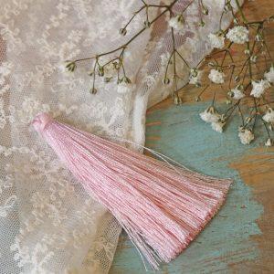 6.5 cm tassel imitiation silk Ballerina Pink x 1 pc