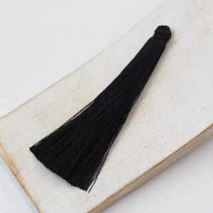 6.5 cm tassel imitiation silk Black x 1 pc