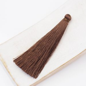 6.5 cm tassel imitiation silk Brown x 1 pc