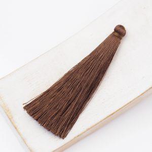 6.5 cm tassel imitiation silk Brown x 1 pc