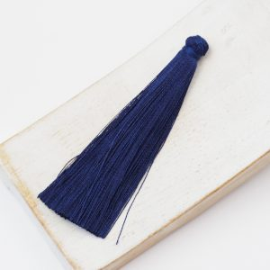 6.5 cm tassel imitiation silk Dark Blue x 1 pc