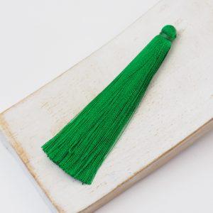6.5 cm tassel imitiation silk Forest Green x 1 pc
