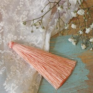 6.5 cm tassel imitiation silk Light Coral x 1 pc