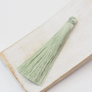 6.5 cm tassel imitiation silk Light Green-Grey x 1 pc