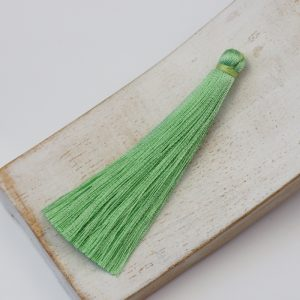 6.5 cm tassel imitiation silk Light Kelly Green x 1 pc