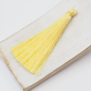 6.5 cm tassel imitiation silk Light Yellow x 1 pc