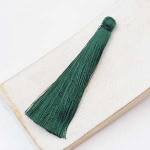 6.5 cm tassel imitiation silk Moss Green x 1 pc