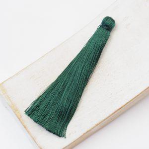 6.5 cm tassel imitiation silk Moss Green x 1 pc