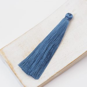 6.5 cm tassel imitiation silk Steel Sky x 1 pc