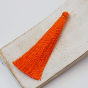 6.5 cm tassel imitiation silk Tangerine x 1 pc
