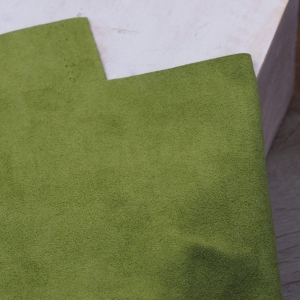 23 x 10 cm Ultrasuede® ST (Soft) for bead embroidery Light Olive Green x 1 pc