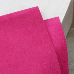 23 x 10 cm Ultrasuede® ST (Soft) for bead embroidery Fuchsia x 1 pc