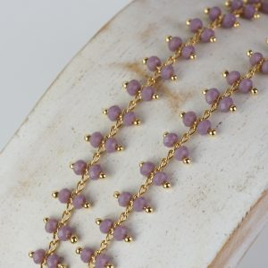 Chain with Purple beads x 10 cm