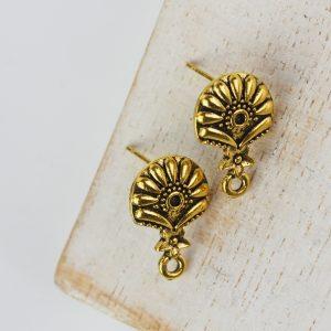 Patina gold earstuds 18 mm x 2 pcs