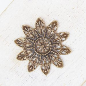 Antique bronze filigree snowflake 27x27 mm x 1 pc