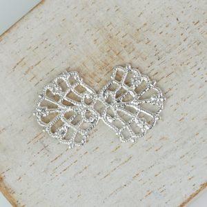 Silver filigree bowtie 26x15 mm x 1 pc