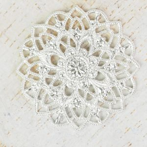 Silver filigree star flower 27x27 mm x 1 pc