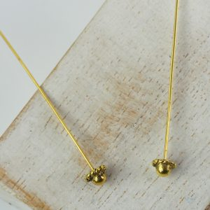 Antique gold decorative head pin 50 mm x 2 pc