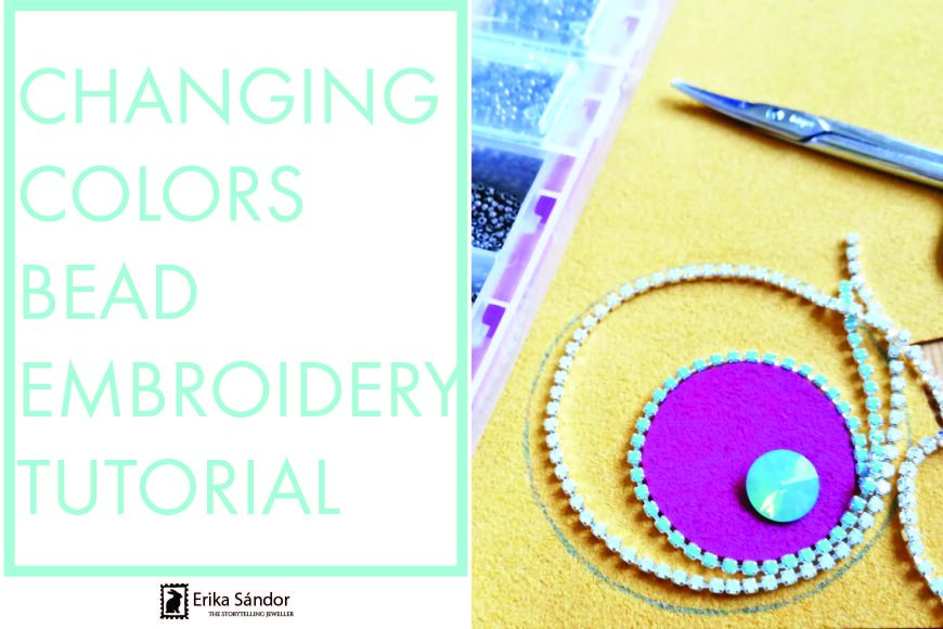 Changing colors pendant – bead embroidery tutorial