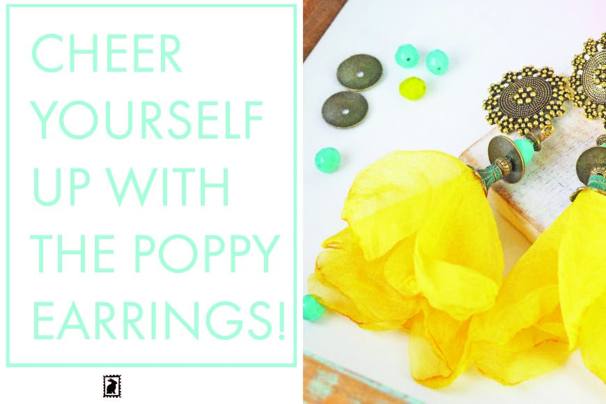 Cheer yourself up with the Poppy earrings!