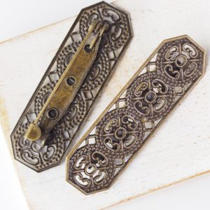 15×44 mm brooch antique bronze x 1 pc(s)