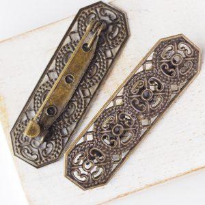 15x44 mm brooch antique bronze x 1 pc(s)