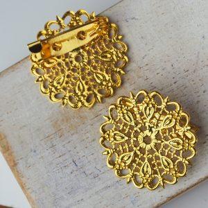 25x25 mm brooch gold x 1 pc(s)