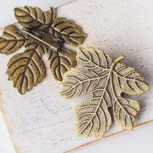 29x32 mm brooch antique bronze x 1 pc(s)